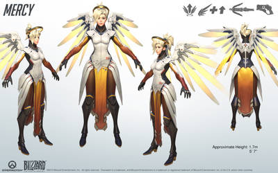 Mercy - Overwatch - Close look at model by PlanK-69