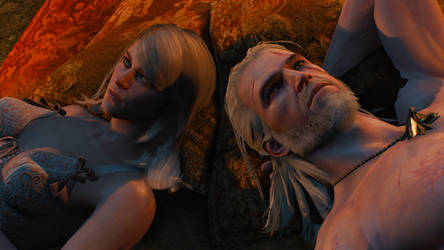 Geralt and Keira - Witcher 3 by PlanK-69