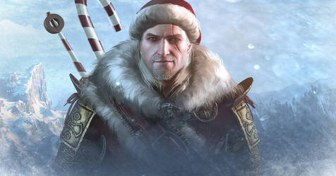 Geralt Santa Claws - Witcher 3 by PlanK-69