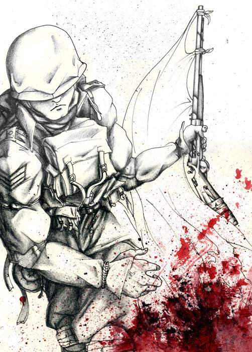 Blood Soldier by zxwart