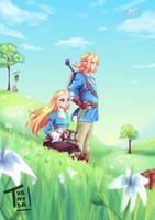 1st Annyversary the legend of Zelda by Thanysa