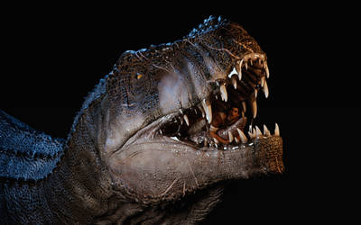 A hungry T-Rex by gammaray666