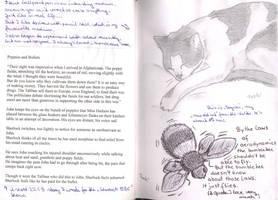 Mogwai and bumblebee -world travel book p.2,3 by toeki