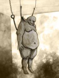 hanged fatman by zurrak