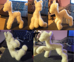 Needle felt pony armature mark 2 by the-pink-dragon