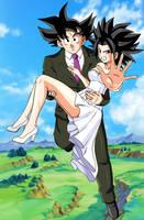 Commission - Goku's new wife by FoxyBulma