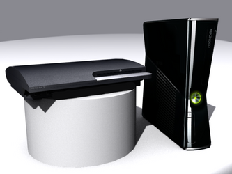 Playstation 3 + Xbox 360 slim by TheOneFree-man