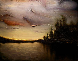 Northern Lake by DeLumine