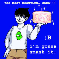 John and his Cake by Evionth