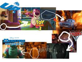 Pixar Easter Egg tendency map by thearist2013