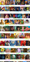 2000s Animated Movie Protagonist Scorecard by thearist2013