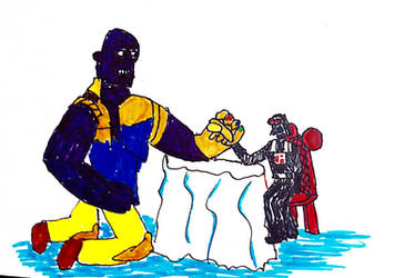 inktober 5 Thanos and Darth Vader in House o Mouse by thearist2013
