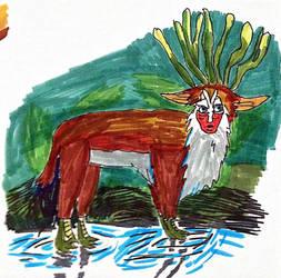 inktober 29 Forest Spirit by thearist2013
