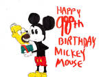 Happy 90th birthday Mickey by thearist2013