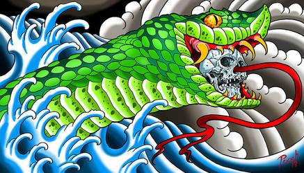 Skull Serpent by tat2pooch