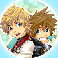 Badges: Sora X Roxas by semokan