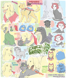 Avengers Dogs and Cats by semokan