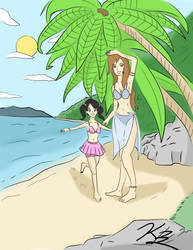 AquaLillyStar free commission Aqua Kady's Summer by MysteriousWarrior123