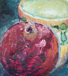 Pomegranate and Coffee Cup by oriridraco