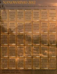 NaNoWriMo Calendar-2012 by DastardlyRomantic