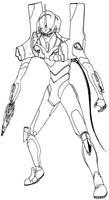 Evangelion 01 unfinnished by MC-FRAN