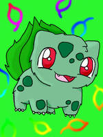 Fluffy Bulbasaur Redux by chikadee34