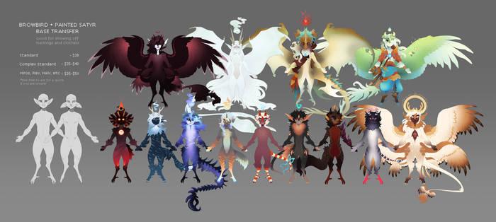 [open3/5] Browbird + Painted Satyr Base Transfers! by Malfey-VII