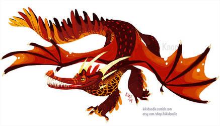 Fire Dragon by kiki-doodle
