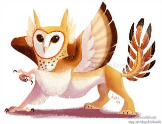 barn owl gryphon by kiki-doodle