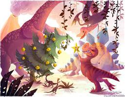 Its a Dinosaur Christmas by kiki-doodle