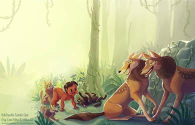 Jungle Book Mowgli by kiki-doodle