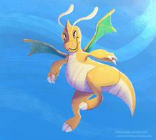 #149 Dragonite by kiki-doodle