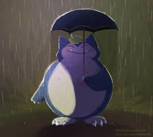 Pokemon 143 Snorlax by kiki-doodle