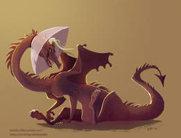 Cone of Shame Dragon by kiki-doodle