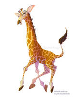 Giraffe Sticker by kiki-doodle