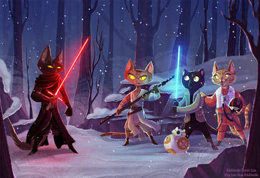 Paw Wars: The Furce Awakens by kiki-doodle