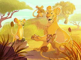 Mama Lion by kiki-doodle