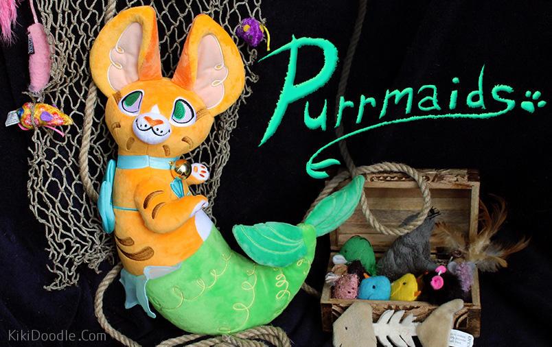 Announcement: PURRMAIDS (Kickstarter LIVE!) by kiki-doodle