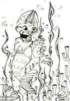 Purrmaid Coloring Book Concept by kiki-doodle