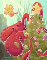 Merry Fishmas! by kiki-doodle