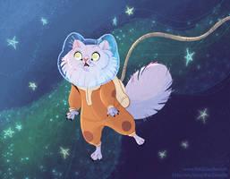 Catstronaut by kiki-doodle