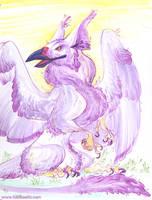 Purple Floof by kiki-doodle