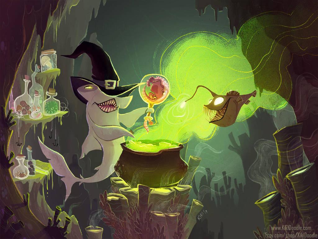 Deep Sea Witch by kiki-doodle