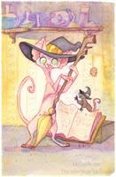 Sphynx Witch by kiki-doodle