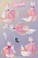 Jelly Angora Fish Sticker Sheet by kiki-doodle