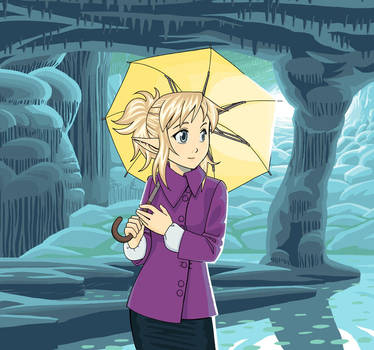 Noelle in a cave by Aeonna