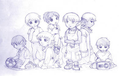 A childish cast by Aeonna