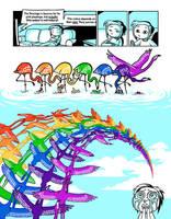 Flamingo rainbow by Aeonna