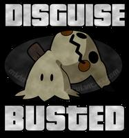 Busted Mimikyu (shirt design) by MidnyteSketch
