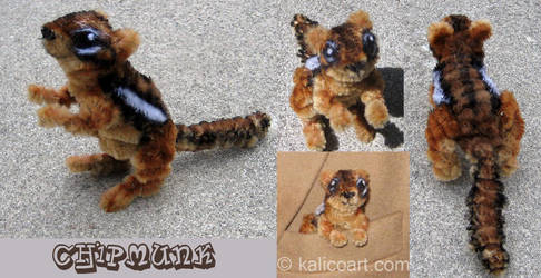 Chipmunk -- Pipe Cleaners by kalicothekat